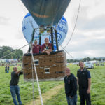 Hot air balloon tethering