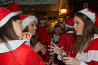 London Santa Pub Crawl 2014